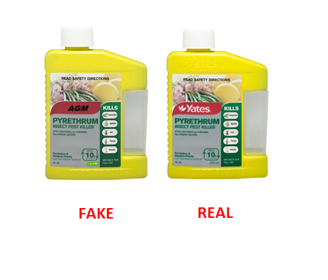 fake and real AGM pyrethrum